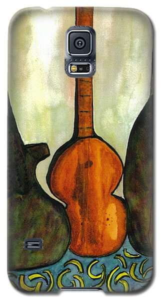 Galaxy S5 Case featuring the painting 200 Year Old Compostition by Lesley Fletcher
