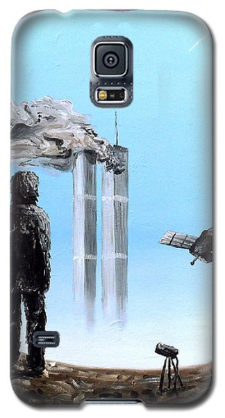 Galaxy S5 Case featuring the painting 2012-confronting Inevitability by Ryan Demaree