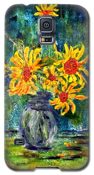2012 Sunflowers 4 Galaxy S5 Case by Denny Morreale