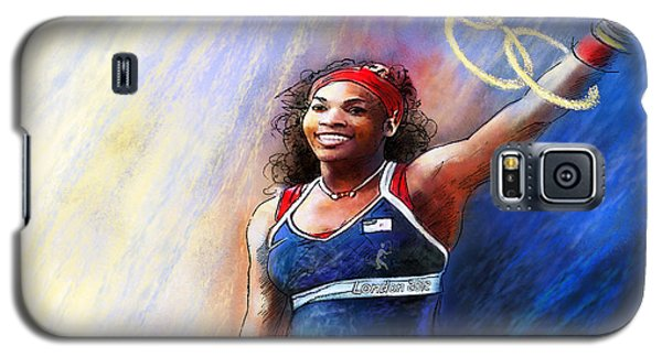 2012 Tennis Olympics Gold Medal Serena Williams Galaxy S5 Case by Miki De Goodaboom