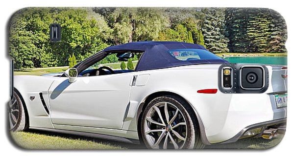 2013 Corvette 427 Sixtieth Anniversary Special Striped Roof Up Galaxy S5 Case