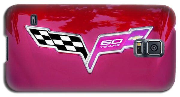 2013 Corvette 60th Anniversary Hood Logo Painted Galaxy S5 Case