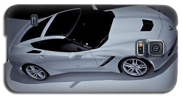 2014 Chevy Corvette  Bw Galaxy S5 Case by Rachel Cohen