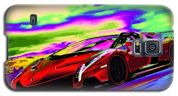 2014 Lamborghini Veneno Roadster Abstract Galaxy S5 Case by Maciek Froncisz