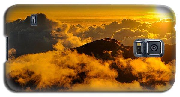 Clouds At Sunrise Over Haleakala Crater Maui Hawaii Usa Galaxy S5 Case