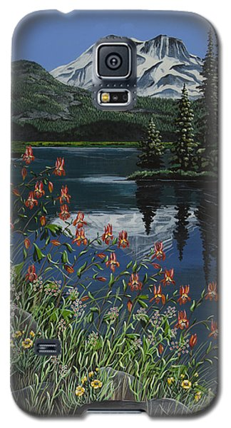 Galaxy S5 Case featuring the painting A Peaceful Place by Jennifer Lake