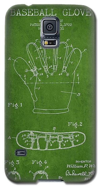 Baseball Glove Patent Drawing From 1922 Galaxy S5 Case