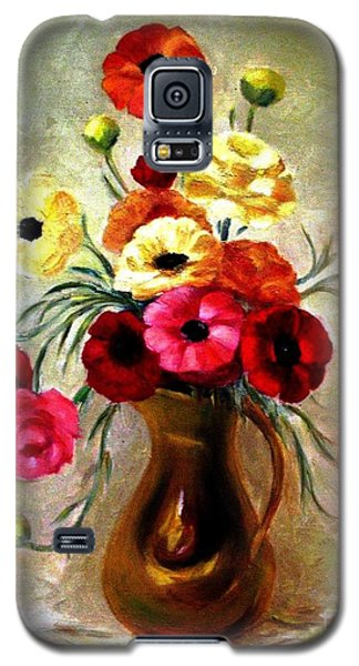 Galaxy S5 Case featuring the painting Basking In The Light by Hazel Holland