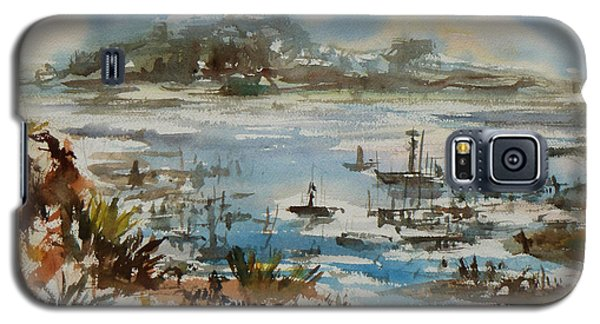 Galaxy S5 Case featuring the painting Bay Scene by Xueling Zou
