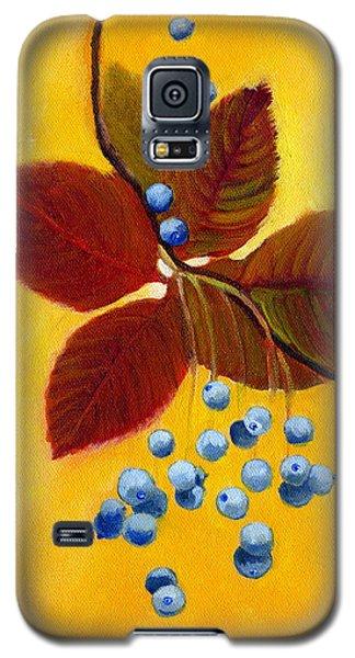 Blue On Yellow Galaxy S5 Case