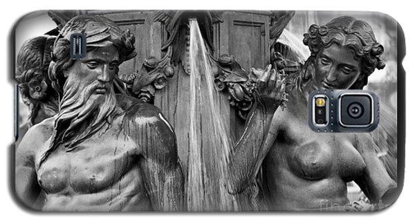 Brewer Fountain Boston Ma Black And White Galaxy S5 Case
