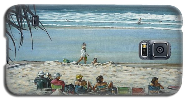 Galaxy S5 Case featuring the painting Burleigh Beach 220909 by Selena Boron