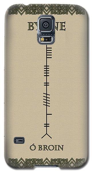 Galaxy S5 Case featuring the digital art Byrne Written In Ogham by Ireland Calling