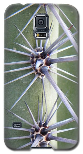 Galaxy S5 Case featuring the photograph Cactus Thorns by Deb Halloran