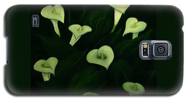 Galaxy S5 Case featuring the painting Calla Lilies by John Stuart Webbstock