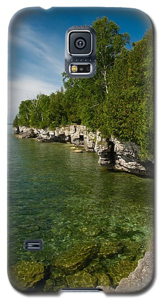 Cave Point County Park Galaxy S5 Case