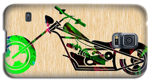 Chopper Motorcycle Galaxy S5 Case by Marvin Blaine