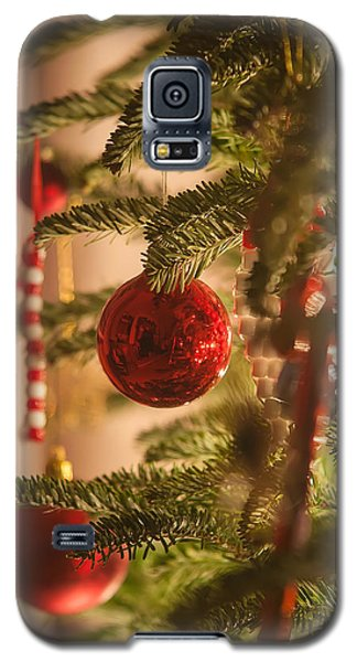 Galaxy S5 Case featuring the photograph Christmas Tree Ornaments by Alex Grichenko