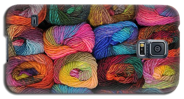 Colorful Knitting Yarn Galaxy S5 Case