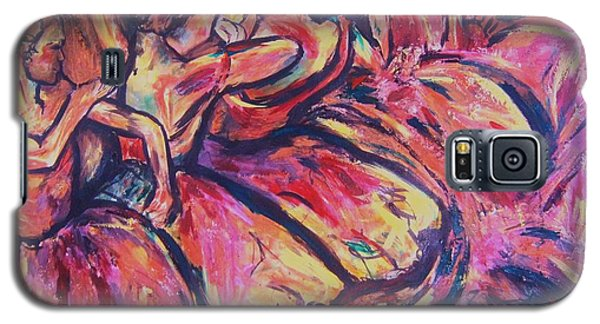 Galaxy S5 Case featuring the painting Dancers by Dawn Fisher