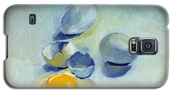3 Eggs On Blue Galaxy S5 Case