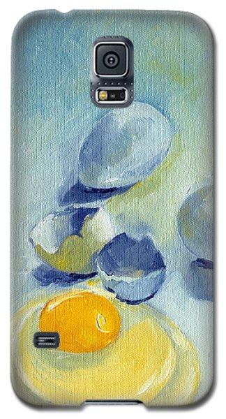3 Eggs On Blue Galaxy S5 Case