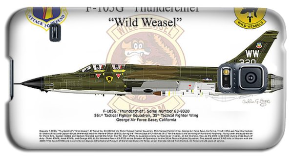 Galaxy S5 Case featuring the digital art F-105g Thunderchief Wild Weasel by Arthur Eggers
