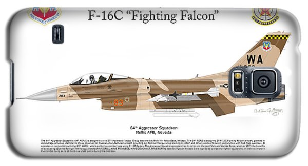 Galaxy S5 Case featuring the digital art F-16c Fighting Falcon by Arthur Eggers