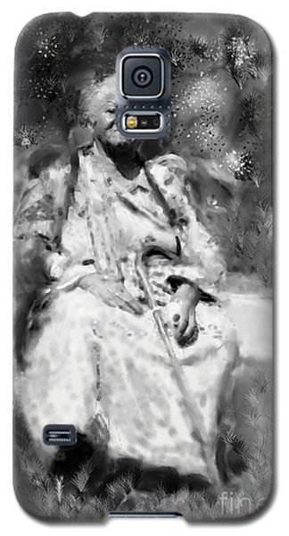 Galaxy S5 Case featuring the drawing Former Slave Woman by Vannetta Ferguson