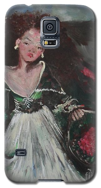 Galaxy S5 Case featuring the painting Free by Laurie L