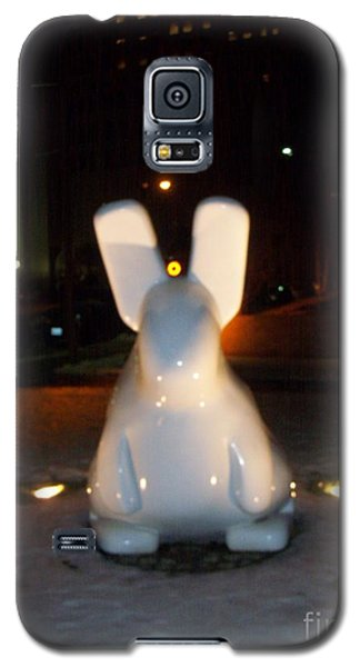 Galaxy S5 Case featuring the photograph Funny Killer Bunny by Kelly Awad