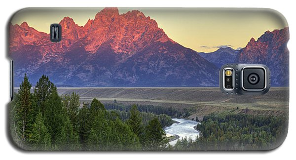 Galaxy S5 Case featuring the photograph Grand Tetons Morning At The Snake River Overview - 2 by Alan Vance Ley