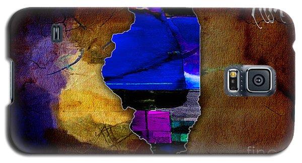 Illinois Map Watercolor Galaxy S5 Case