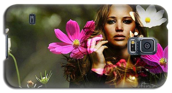 Jennifer Lawrence Galaxy S5 Case by Marvin Blaine