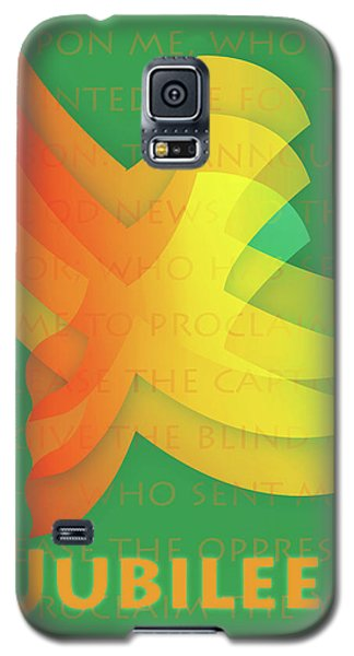 Galaxy S5 Case featuring the digital art Jubilee by Chuck Mountain