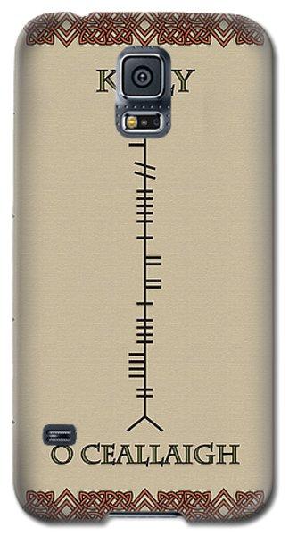 Galaxy S5 Case featuring the digital art Kelly Written In Ogham by Ireland Calling