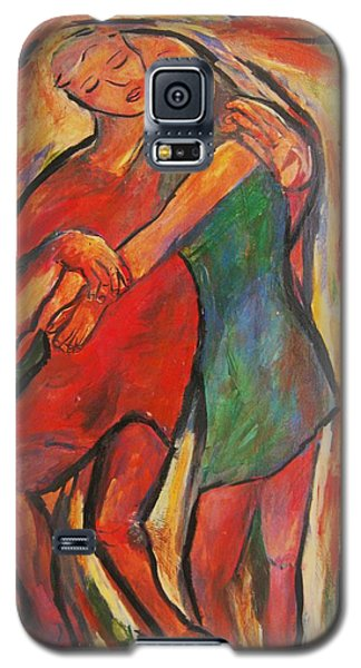Galaxy S5 Case featuring the painting Lean by Dawn Fisher