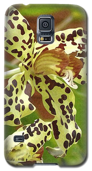 Leopard Orchids Galaxy S5 Case