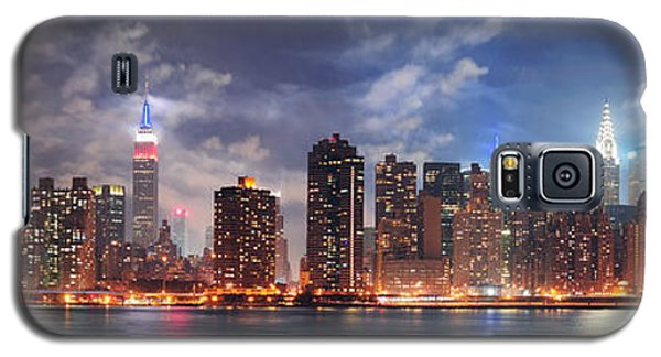 New York City Manhattan Midtown At Dusk Galaxy S5 Case