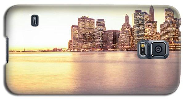 City Sunset Galaxy S5 Case - New York City by Vivienne Gucwa