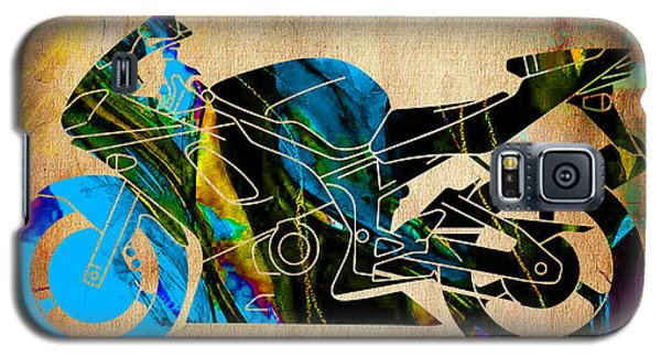 Ninja Motorcycle Painting Galaxy S5 Case by Marvin Blaine