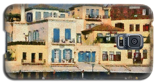 Painting Of The Old Port Of Chania Galaxy S5 Case
