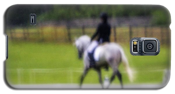 Galaxy S5 Case featuring the photograph Rainy Day Dressage by Joan Davis
