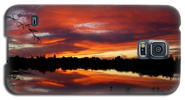Galaxy S5 Case featuring the photograph Riparian Sunset by Tam Ryan