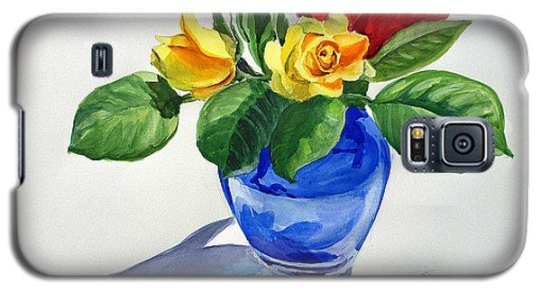 Galaxy S5 Case featuring the painting Roses by Irina Sztukowski