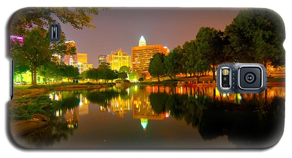Galaxy S5 Case featuring the photograph Skyline Of Uptown Charlotte North Carolina At Night by Alex Grichenko