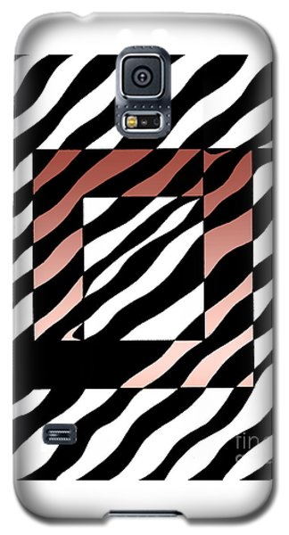 Galaxy S5 Case featuring the drawing 3 Squares With Ripples by Joseph J Stevens