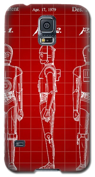 R2-d2 Galaxy S5 Case - Star Wars C-3po Patent 1979 - Red by Stephen Younts