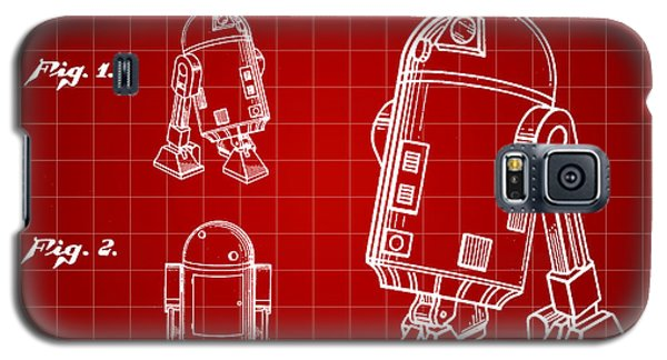 R2-d2 Galaxy S5 Case - Star Wars R2-d2 Patent 1979 - Red by Stephen Younts