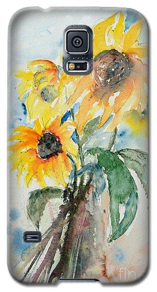 Sunflowers Galaxy S5 Case by Ismeta Gruenwald